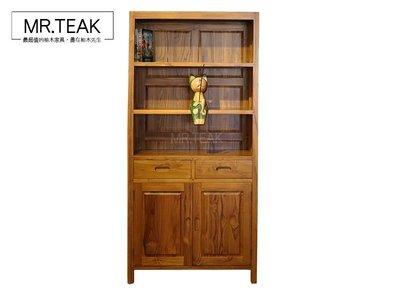 【柚木先生】印尼柚木 三層展示櫃 收納櫃 書櫃 隔間櫃 餐櫃 開放式 電視櫃