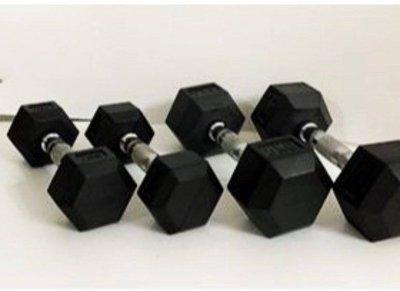 ❤預購❤  (20kg 一對(2支) 六角包膠啞鈴 舉重啞鈴 啞鈴