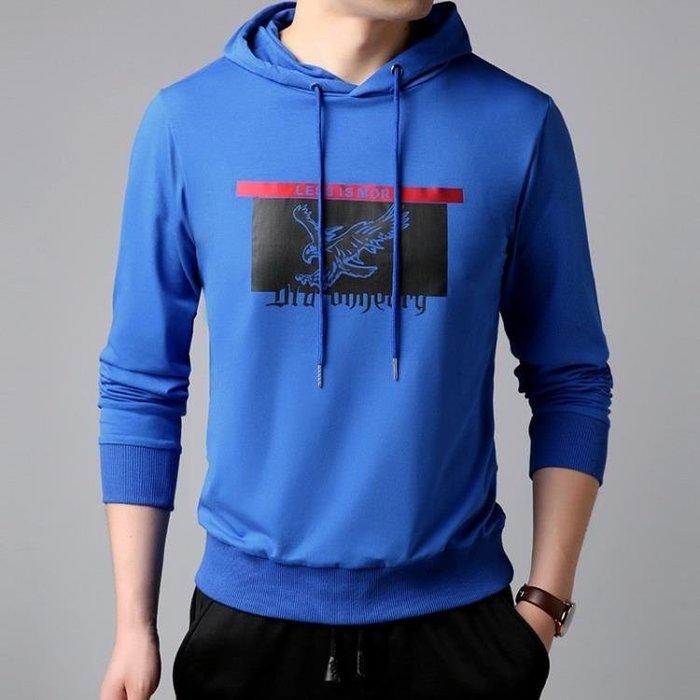 連帽衛衣 春秋男士長袖時尚男裝秋冬韓版外套男裝套頭衛衣 長袖T恤t6423