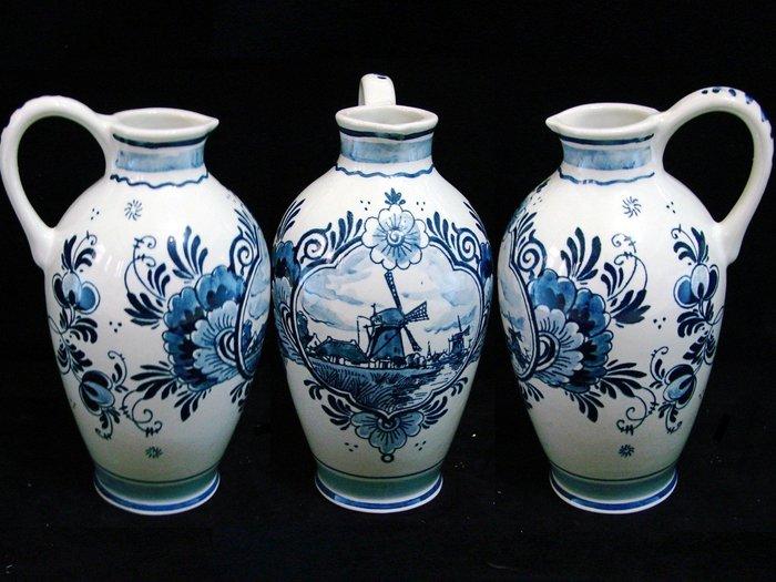 ➷➷大降➷ ♔200一元標·.荷蘭國寶骨瓷.·DELFT Holland【 全手工 鈷藍手繪 經典 風車 水壺 】72