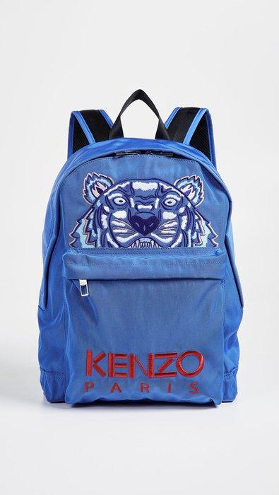 ◎美國代買◎KENZO tiger Blue Capsule藍色老虎刺繡後背包~歐美街風