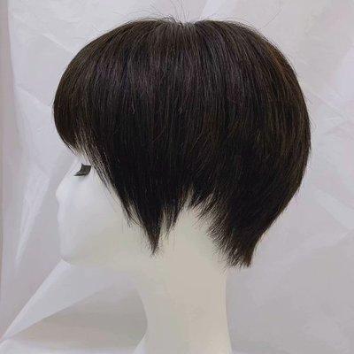 整頂假髮真髮絲短假髮-全手織自然蓬鬆直髮女假髮2色73vr1[獨家進口][米蘭精品]