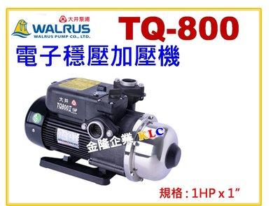 【上豪五金商城】大井泵浦 TQ800 1HP x 1 抽水馬達 加壓機 電子穩壓加壓馬達  低噪音 TQ800B