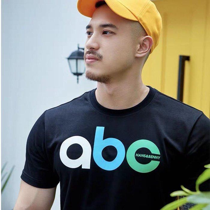 【OTOKO Men's Boutique】Hansbenny abc/ T恤/黑色/正版(台灣獨家代理)