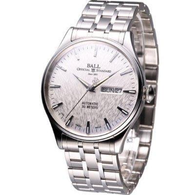 [永達利鐘錶] BALL 復刻版機械腕錶 (白面) NM2080D-SJ-SL免運費