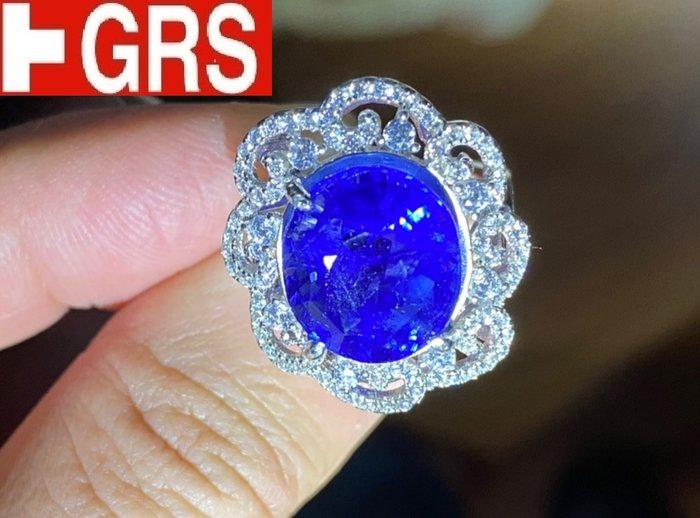 【台北周先生】天然皇家藍藍寶石13.41克拉 最高等級intense royal vvb 最棒錫蘭產 送GRS證書