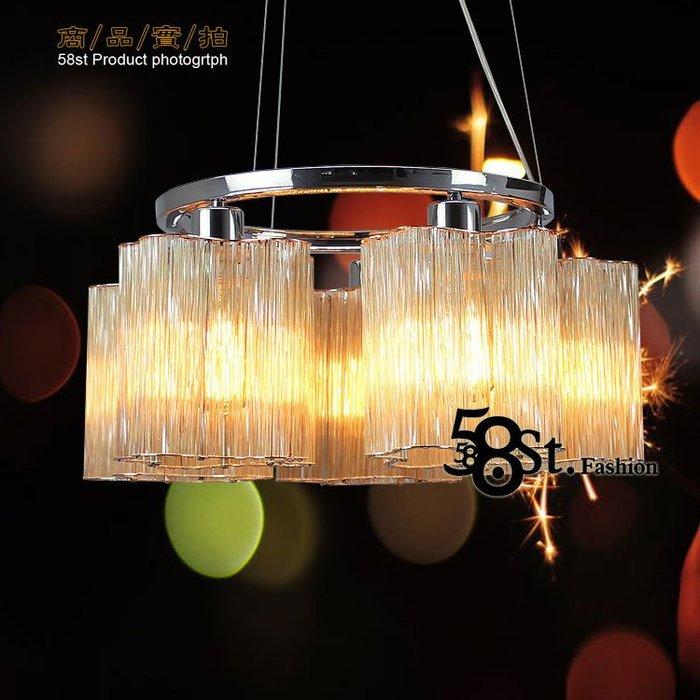 【58街】5燈款「Glass deformed 玻璃管雲朵吊燈」美術燈。複刻版。GH-522