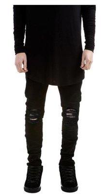 歐美高街風破洞牛仔褲Destroyed Denim Jeans 小腳彈力男女牛仔褲 Loose