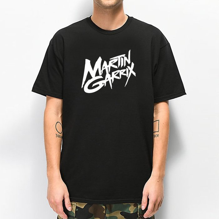 Martin Garrix Logo 全球百大DJ 短袖T恤 黑色 電音舞曲派對EDM
