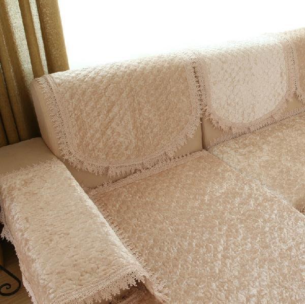 ~布藝天下~ 金鉆絨毛絨沙發墊布藝坐墊歐式絎縫沙發套防滑秋定做04款 鉆石年代卡其  D82