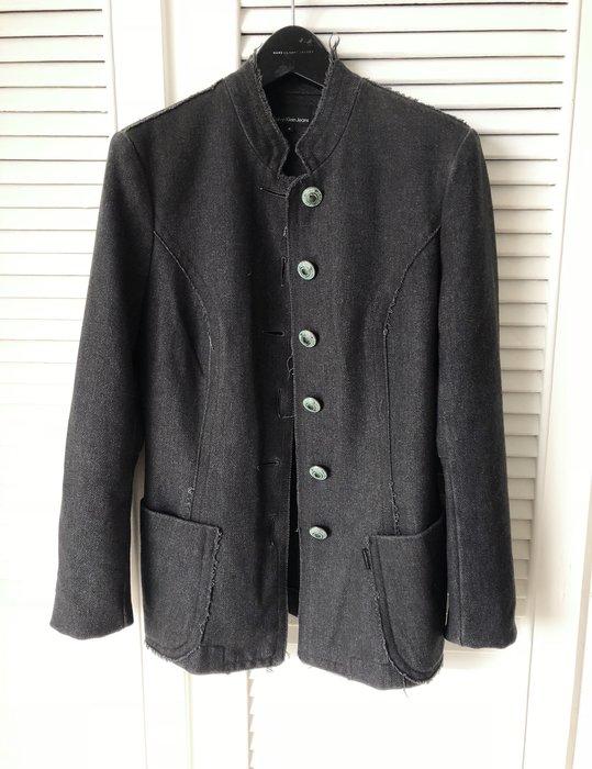 原價$27800【Calvin Klein】版型超美!鐵灰復古銅釦單排西裝式外套