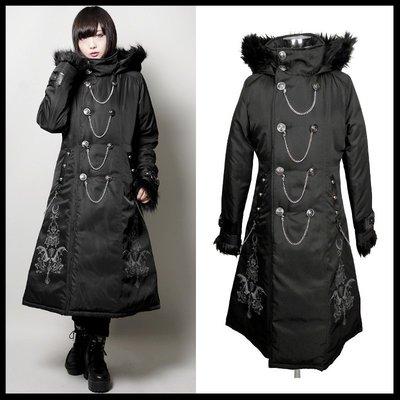 *MINI PUNK LOLO*日本龐克視覺-極寒異世界的獨行者雙排釦毛海連帽機能防風大衣外套(中性.sb04054)
