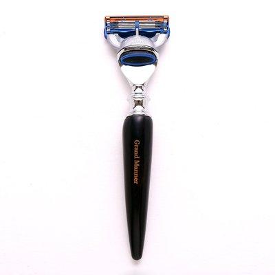 英國 Grand Manner 皇家系列 刮鬍刀(璽黑牛角 / 鋒隱5 Fusion)送禮 禮物