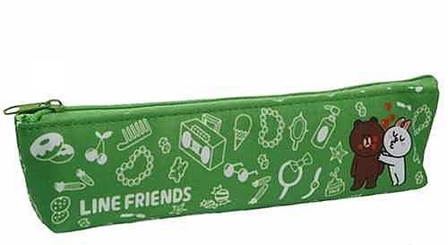 《Greens selection》日本LINE FRIENDS筆袋/筆盒/收納袋 (明亮綠)