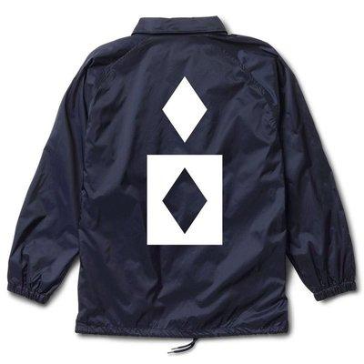 全新 特價 Diamond supply Marquise coach jacket 教練外套 街頭 滑板 海軍藍 現貨M