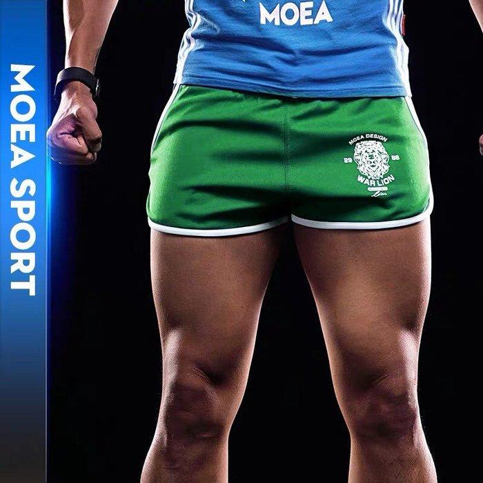 【OTOKO Men's Boutique】MOEA墨立方運動短褲/三分褲/睡褲/居家褲/綠色(台灣獨家代理)