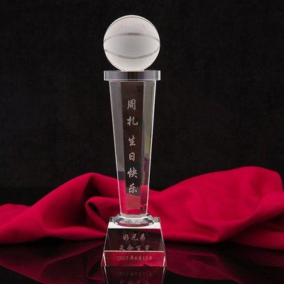 世界杯YYDS~籃球獎杯訂製刻字科比詹姆斯庫里球迷紀念品男生生日禮物籃球模型