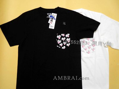 【AMBRAI.com】大尺碼XXL UNIQLO ✖️ KAWS 聯名 口袋 Logo UT 素T 短T Tee T恤