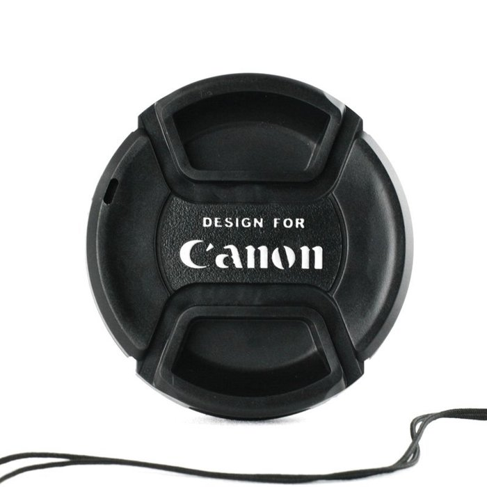 又敗家Canon鏡頭蓋52mm鏡頭蓋C款帶繩,52mm鏡頭前蓋52m鏡蓋52mm鏡前蓋中捏Canon副廠鏡頭蓋相容Canon原廠鏡頭蓋E-52II鏡頭蓋附孔繩