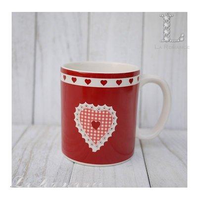 【荷蘭 Clayre & Eef 特惠系列】 紅色愛心馬克杯 / 餐具 / 鄉村風 / 童趣