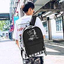 韓版原宿ulzzang雙肩包女校園背包中學生初中學生書包男時尚潮流【優品城】