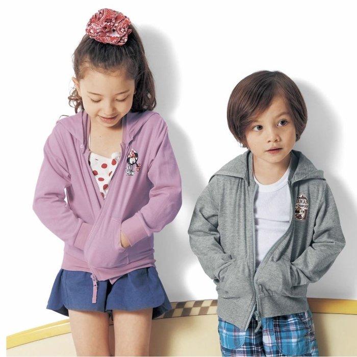Co媽日本精品代購 預購 日本 正版 迪士尼 最新 純棉 涼爽 抗UV 連帽防曬外套 童裝 90~140 米奇 米妮