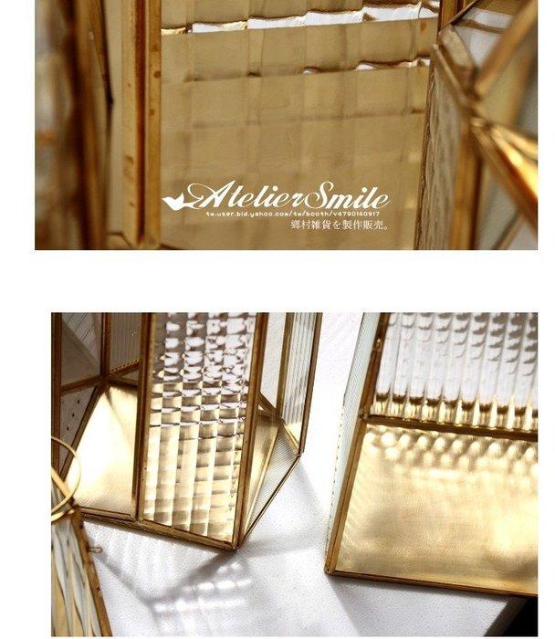 [ Atelier Smile ] 鄉村雜貨 北歐風 / 金屬家飾系列 / 玻璃風燈 / 燭台 # J款 (現+預)