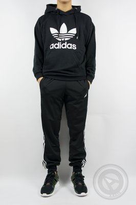 【A-KAY0】ADIDAS ESS 3S TRICOT PANT 束口運動褲 黑白【BK7396】