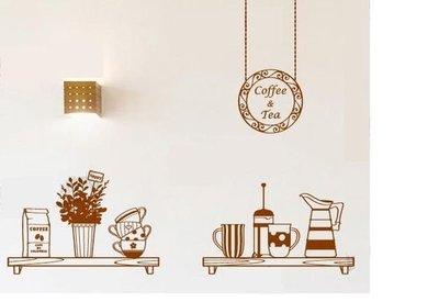 小妮子的家@咖啡午茶壁貼/牆貼/玻璃貼/ 磁磚貼/汽車貼/家具貼/冰箱貼