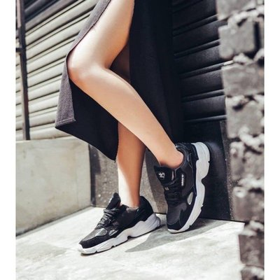 5號倉庫 ADIDAS ORIGINALS FALCON B28129 女 增高 復古老爹鞋 穿搭 麂皮 透氣