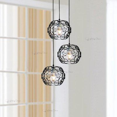 【Lighting.Deco】美式簡約風格 個性吊燈 鐵藝吊燈 餐廳 走道 吧檯吊燈 單燈 (編號:6803/ 1) 宜蘭縣