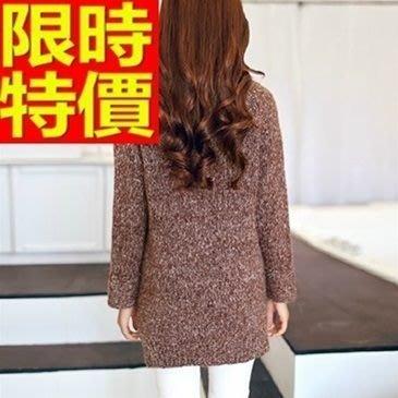 毛衣 女高領上衣-中長版加厚長袖保暖女針織衫64j28[獨家進口][米蘭精品]
