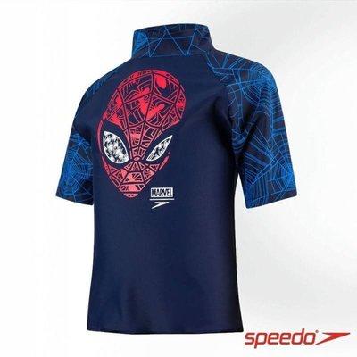 Speedo 兒童泳衣 兒童防曬衣 蜘蛛人
