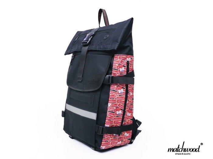 { POISON } MATCHWOOD RIDER 單車後背包 17吋筆電夾層 2015最新配色 黑花紋  藍紅