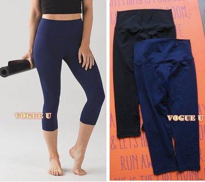 加拿大lululemon~簡約顯瘦高腰運動七分褲 LEGGING 重訓健身TRX(特)【A3786L】長款藍色4號