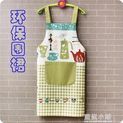 新款韓式無袖圍裙男女情侶廚房做飯防油時尚背帶純棉短袖圍裙成人