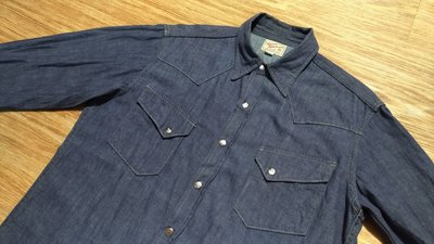 日本製真品The Real McCoy's WESTERN SHIRT 復刻Wrangler 27WM藍紫色西部牛仔襯衫
