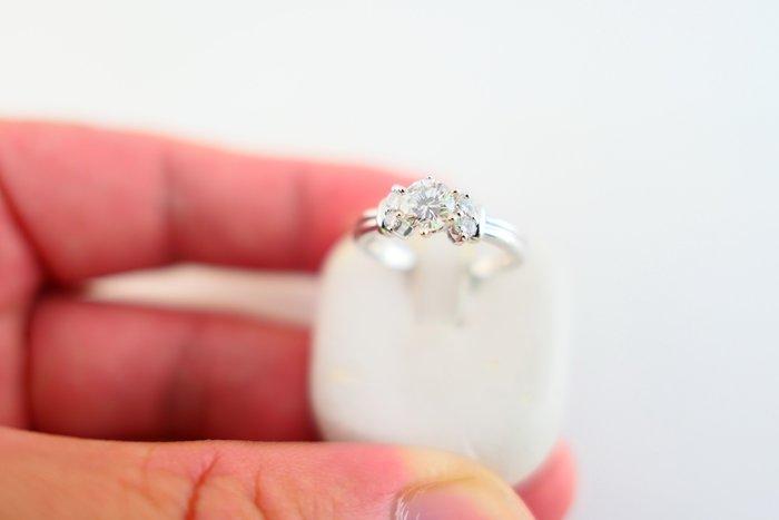 [吉宏精品交流中心]38分 天然鑽石 白K金 造型 戒指 鑽戒(禮物)