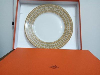 天使熊雜貨小舖~法國Hermes愛馬仕頂級骨瓷大圓盤 27.6cm 法國製 全新現貨1個