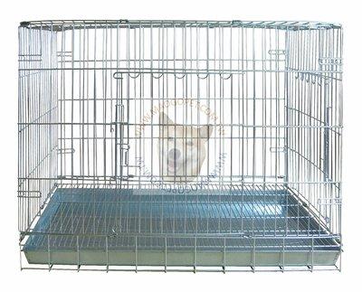 台製 2台尺 不鏽鋼摺疊狗籠 不銹鋼寵物室內籠 折合式白鐵線籠 貓籠 2尺(DK-0605)每件2,000元