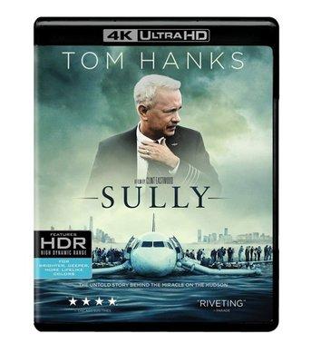 BD 全新美版【薩利機長】【Sully】Blu-ray 4K藍光 UHD + BD