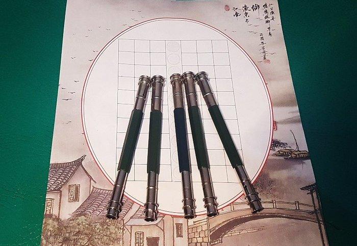 ☆艾力客生活工坊☆020-17 通用 鉛筆延長器 不鏽鋼雙頭 接筆器