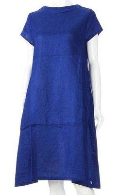 【 柒玖捌零日貨精品 】《 現貨 》全新正品 法國亞麻 日本帶回 連身裙 長洋裝 100%亞麻 寶藍色 涼感