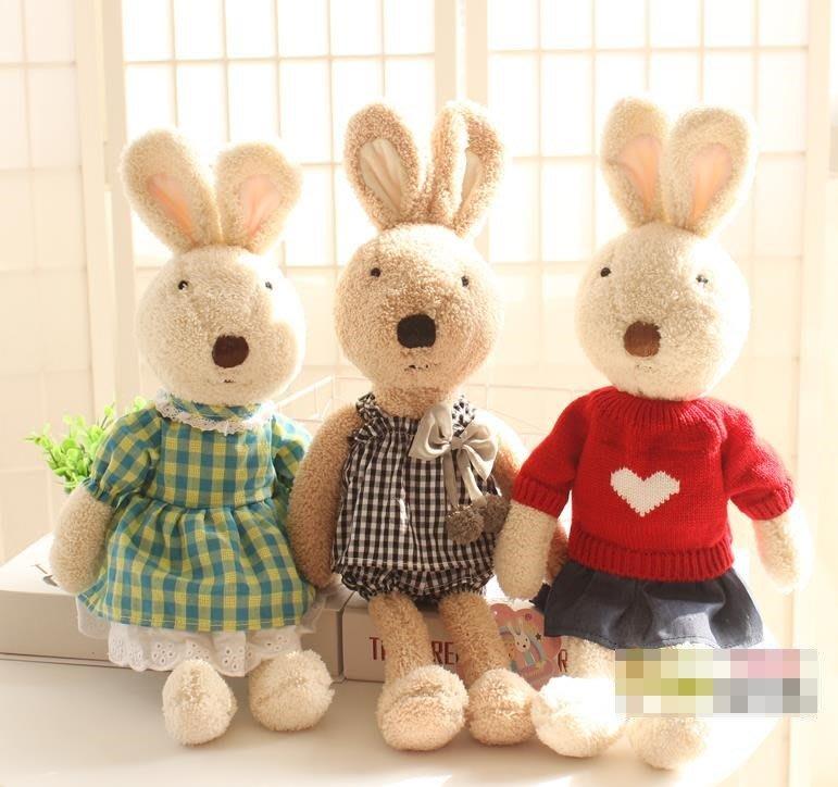 紫滕戀推出可愛砂糖兔小兔子毛絨玩具布娃娃玩偶禮物 30CM下標區之一 多款