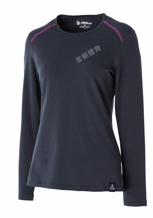 荒野 Wildland 女 遠紅外線輕量抗菌親膚保暖上衣 圓領TEE 圓領T恤 運動上衣 保暖內衣 0A52665
