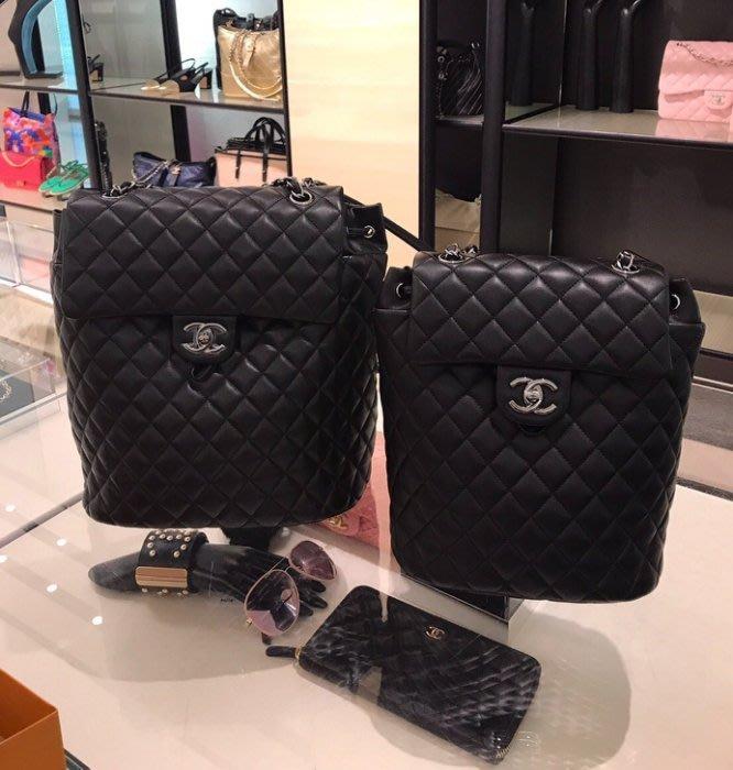 Chanel A91121 Backpack 小羊皮後背包 黑
