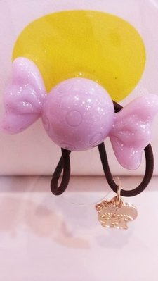 GIFT41 4165本通 三重店 TS 雙子星 KIKILALA  造型 糖果 髮束 髮圈 紫 金色 墜飾 送禮 4901610480687