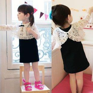 特價清倉 超美好質量女童兩件套連衣裙公主禮服裙蕾絲外衣+背心裙P113