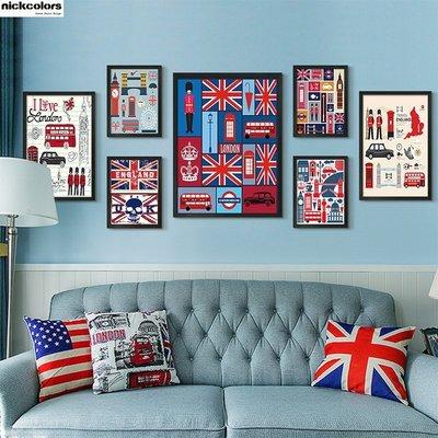 尼克卡樂斯~英國設計手繪圖掛畫  Lo...