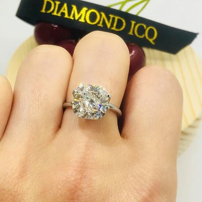♥️YES I DO 💏5.20 求婚示愛最啱👍 獨一無二🌷 you're the ONE💋  5.20ct F VS1 cushion 枕形💎